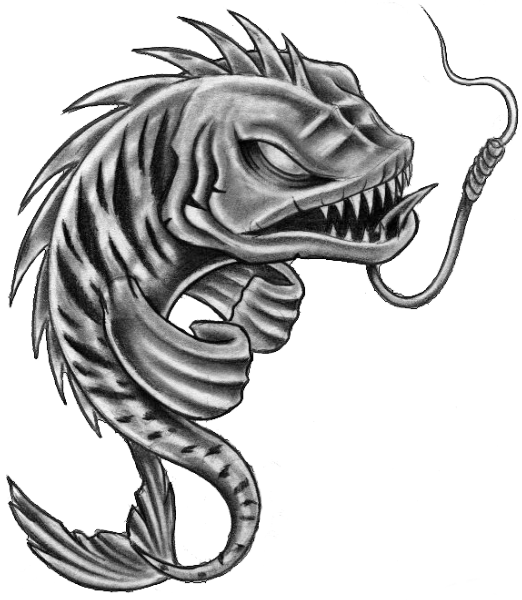 fish skeleton pisces tattoos stencil photo 1 draw pinterest. Black Bedroom Furniture Sets. Home Design Ideas