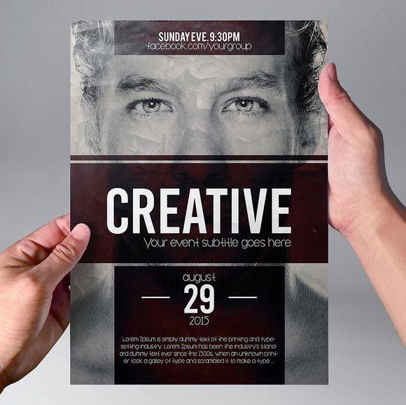 Multipurpose Minimal Flyer Template By Tzochko On Creative Market