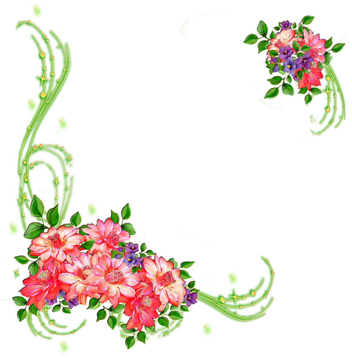 Цветы картинки на прозрачном фоне шаблоны, надписью