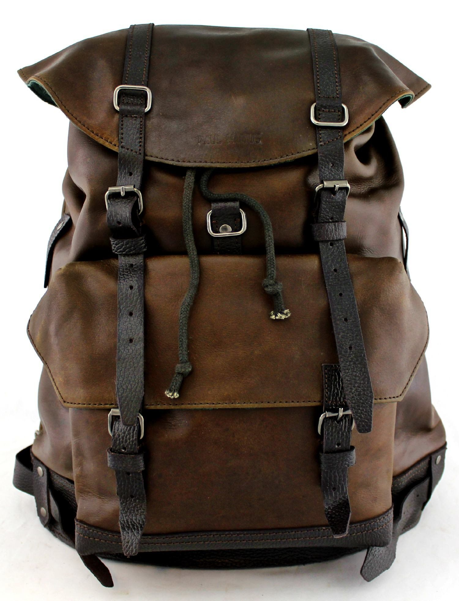 PAUL MARIUS Rucksack knapsack Reisetasche Vintage-leder Alter Schwarz MON  LEGIONNAIRE 557855f65a98b