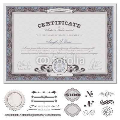 certificate or coupon (actual download without sample text - coupon sample template