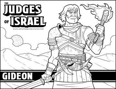gideon coloring pages for sunday school | The Judges of the Bible: Gideon | Kids sunday school ...