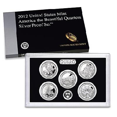 2012 Atb Quarter Silver Proof Set Sv7 Free Shipping 45 75 America The Beautiful Quarters Mint Coins Silver Bullion