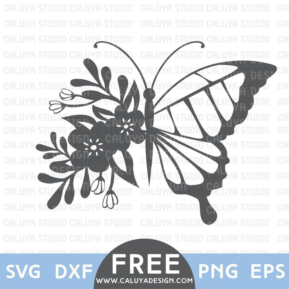 Flower Butterfly Free SVG, PNG, EPS & DXF Download by
