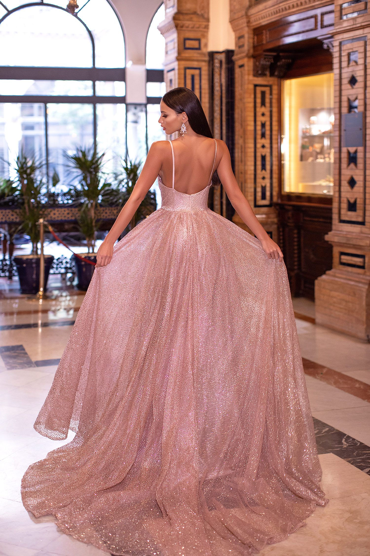 Amiyah Glitter Gown Rose Gold In 2020 Gowns Ball Gowns Occasion Dresses