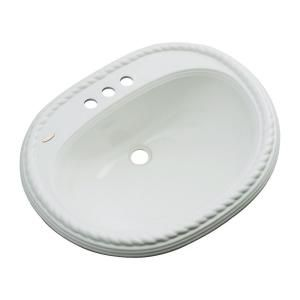 Malibu Drop-in Bathroom Sink with Faucet Hole in Sterling Silver-83482 at The Home Depot