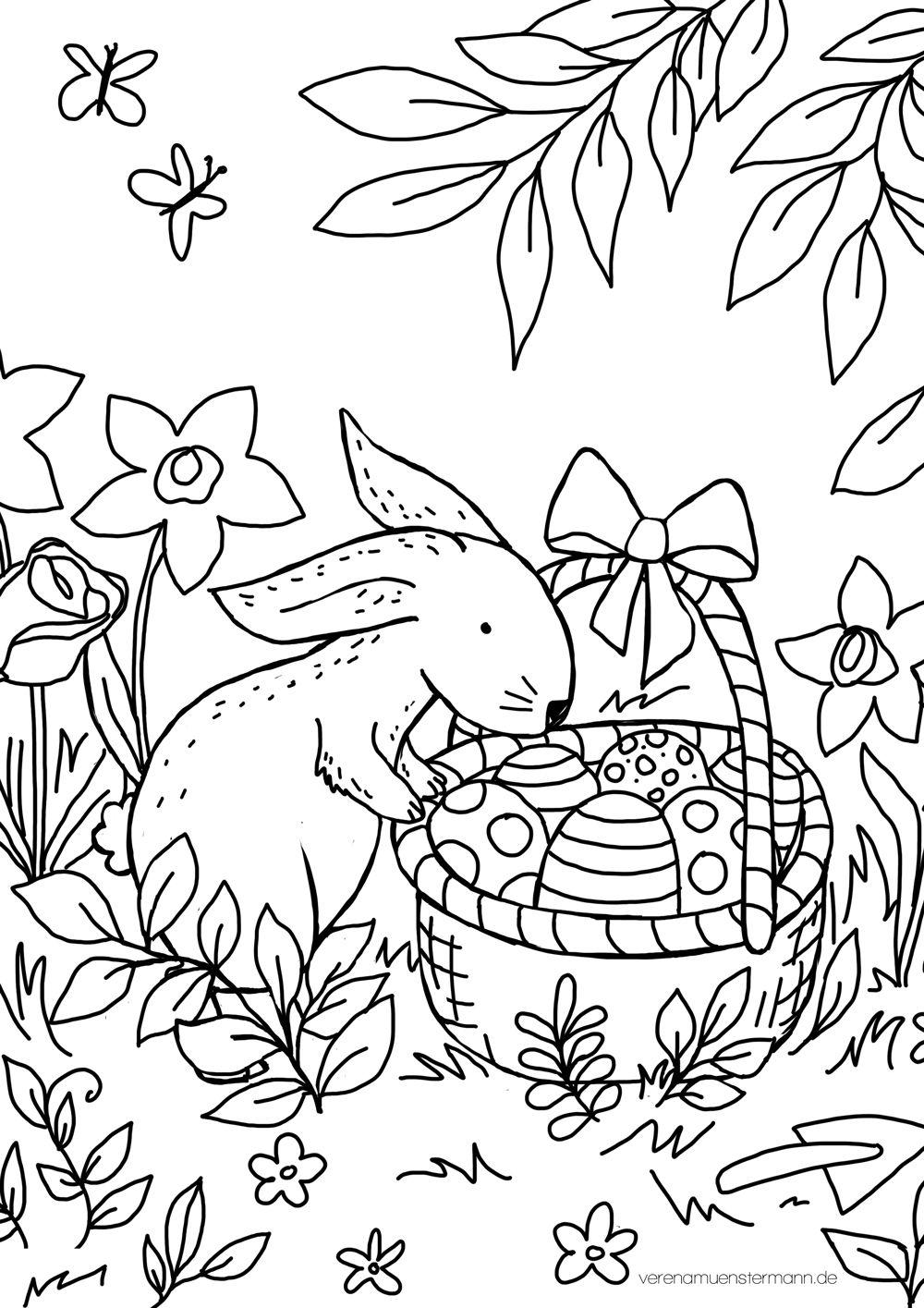 Freebie Ausmalbild Ostern Verenamuenstermann Ausmalbilder Ostern Ausmalen Weihnachtsmalvorlagen