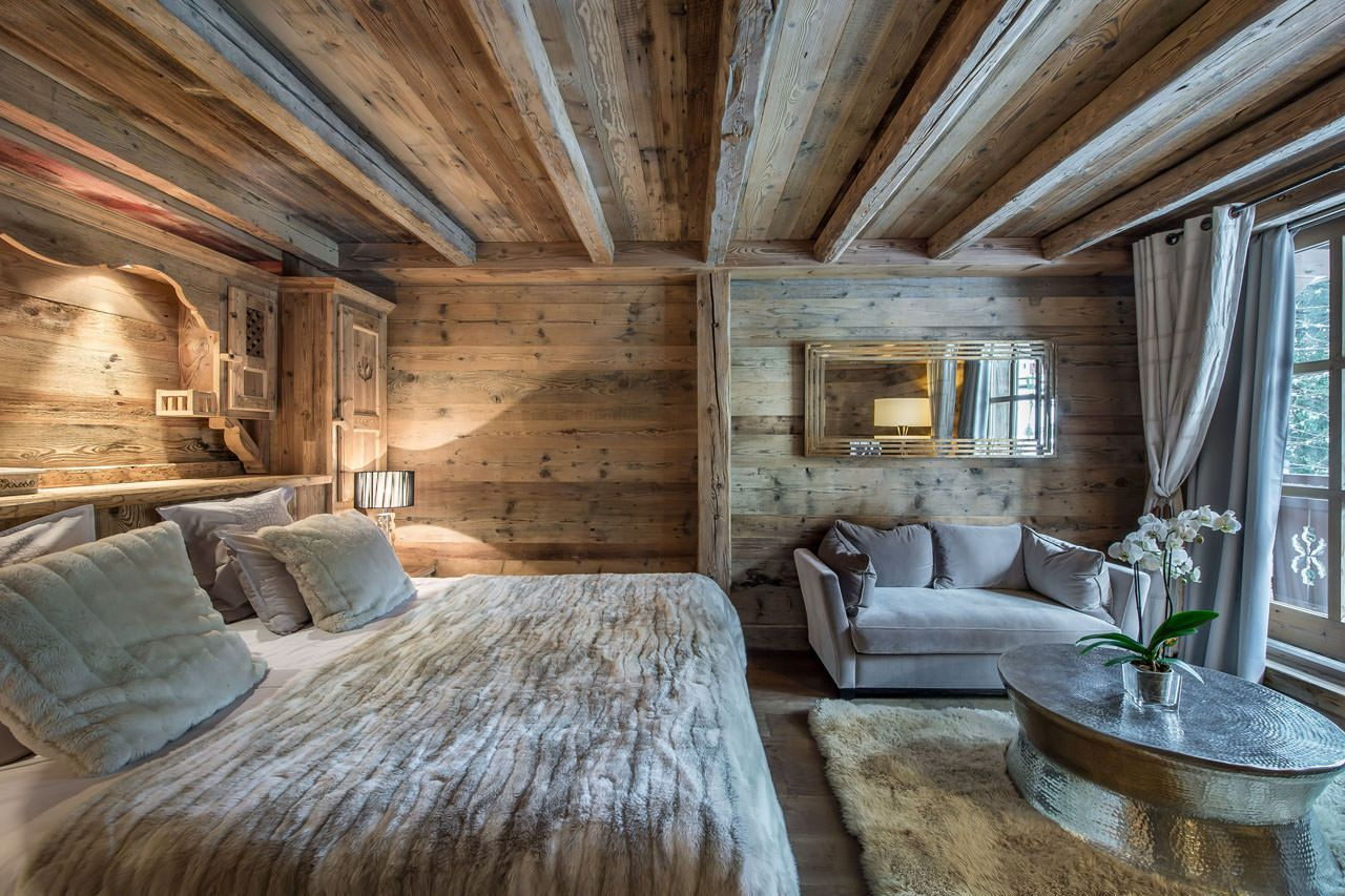 chalet maria courchevel bedroom two case di montagna pinterest chalet chambre montagne et. Black Bedroom Furniture Sets. Home Design Ideas