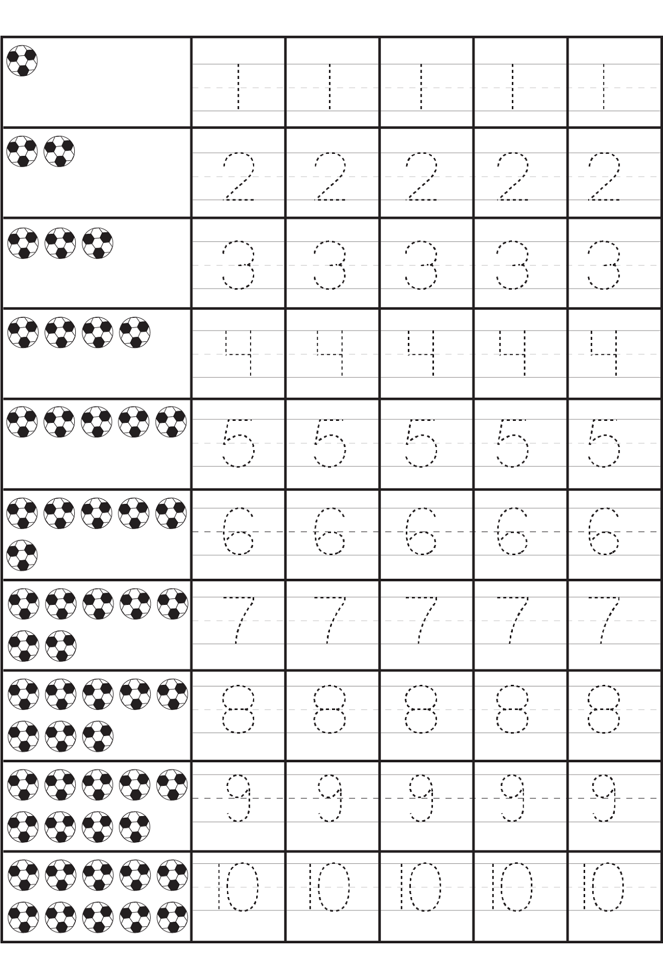 - Printable Number Practice Sheets (com Imagens) Atividade