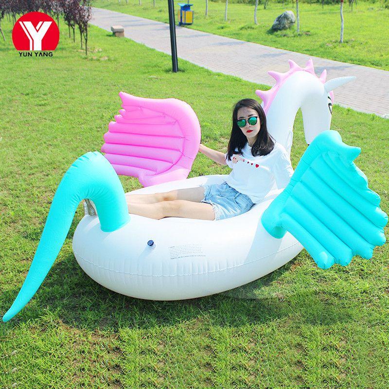 250cm Inflatable Colorful Pegasus Float Inflatable Colored Pegasus Pool  Float Pegasus Swimming Air Mattress Toy Horse