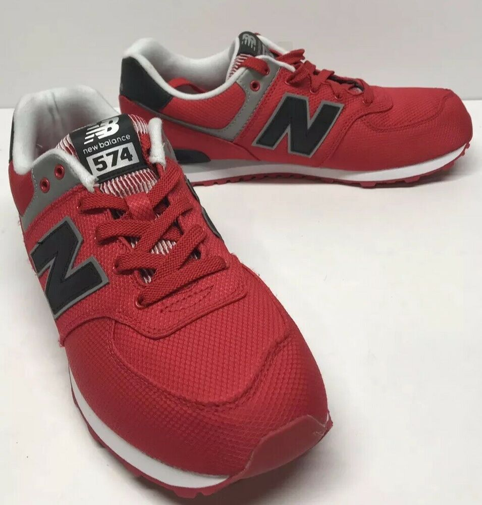 sale retailer 340bc bedbe New Balance 574 RED BLACK KL574F5G Size 6  fashion  clothing  shoes   accessories  kidsclothingshoesaccs  boysshoes (ebay link)