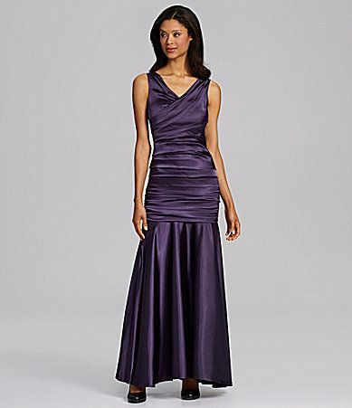 60147a60625 ... for black-tie formal events... here s a nice one. Though I hate the  shoes the model is wearing!! Calvin Klein Sleeveless VNeck Mermaid Gown   Dillards