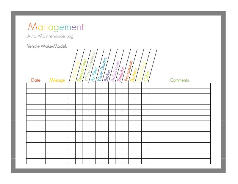auto maintenance printable sheet1 pdf