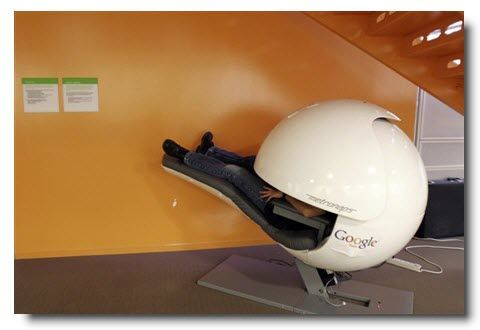 Nap pods at googleplex 39 s mountain view offices zen room for Office nap pod