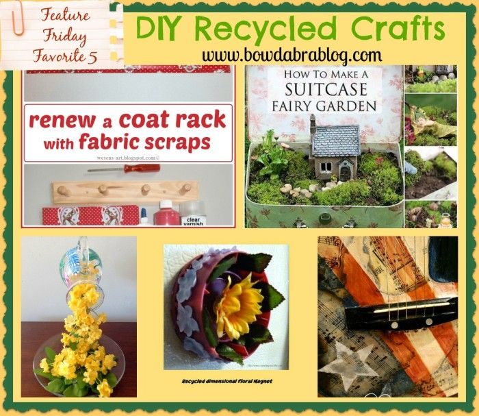 Friday Favorites 5 Websites For Beautiful And Affordable: Recycled DIY Ideas- Feature Friday Favorite Five