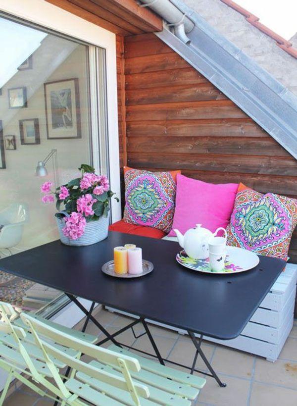 terrassengestaltung bilder essbereich gestalten Balkon - terrasse blumen gestalten