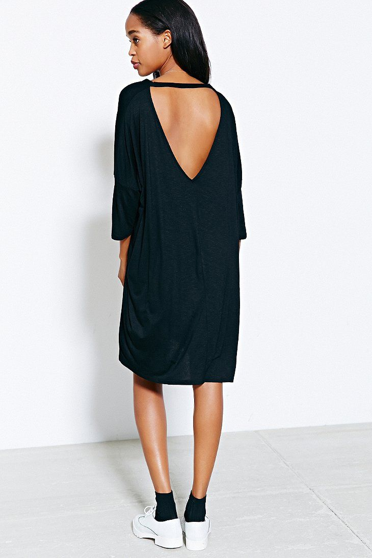 Silence + Noise Midi Open-Back Tee Dress - Urban Outfitters