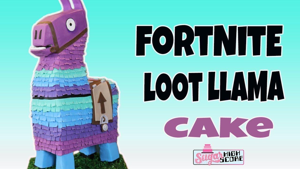 Fortnite loot llama cake how to cake fortnite tiered