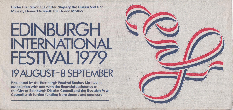 The Cover Of The 1979 Edinburgh International Festival Brochure Edinburgh International Festival Edinburgh Festival Scottish Art