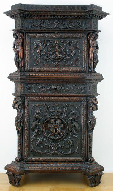 Barok Stoelen Utrecht.Rijkgestoken Vruchtenhouten Kast Renaissance Stijl Italie 19e