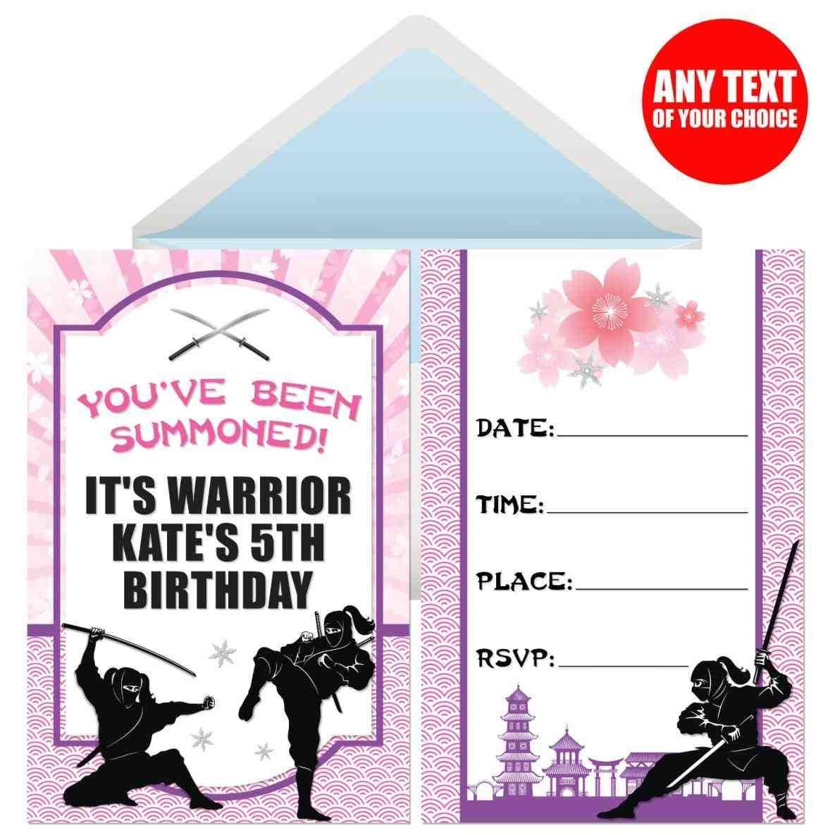 ninja turtles invitations. paper+ninja+knife+craft+birthday+party+ ...