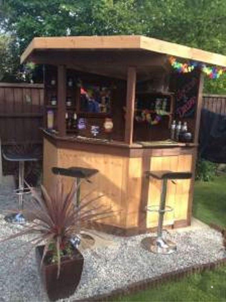 Details about 5ft deluxe corner garden bar pub ...