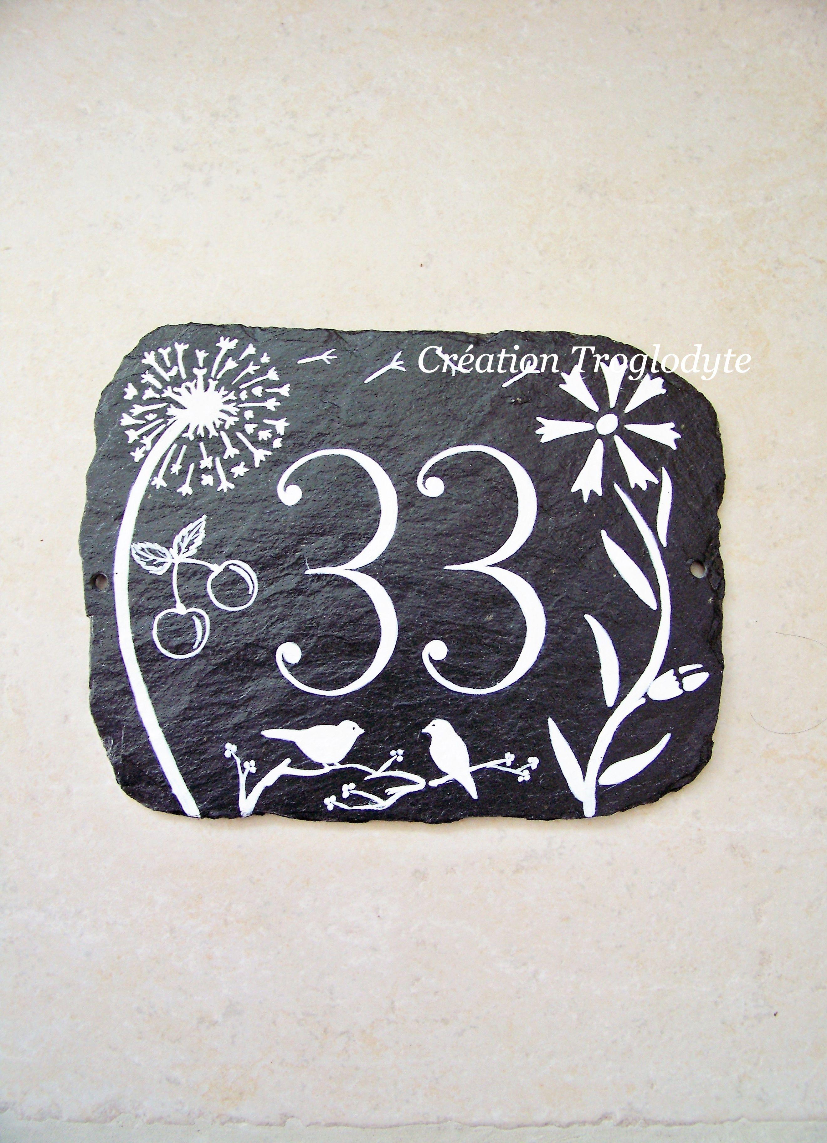 Creationtrogoldyte Plaque Numero De Maison En Ardoise A Personnaliser Tout Le Charme De La Plaque Ardoise Numero Maison Et Numeros De Portes