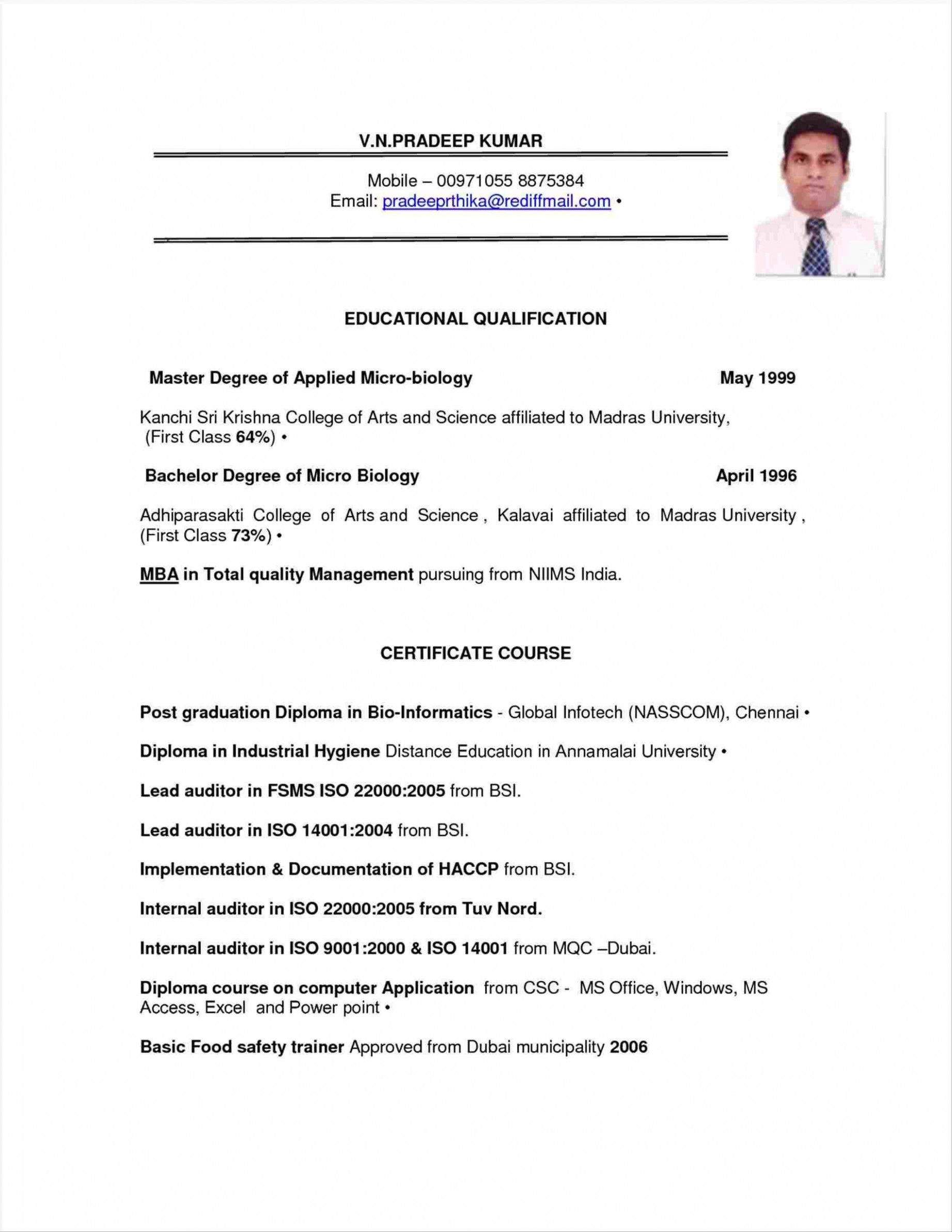 12 Dubai Resume Format Word