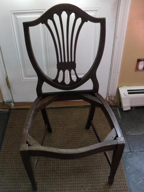 Collectibles-General (Antiques): Shield Back chairs, george hepplewhite,  mahogany veneer - Collectibles-General (Antiques): Shield Back Chairs, George