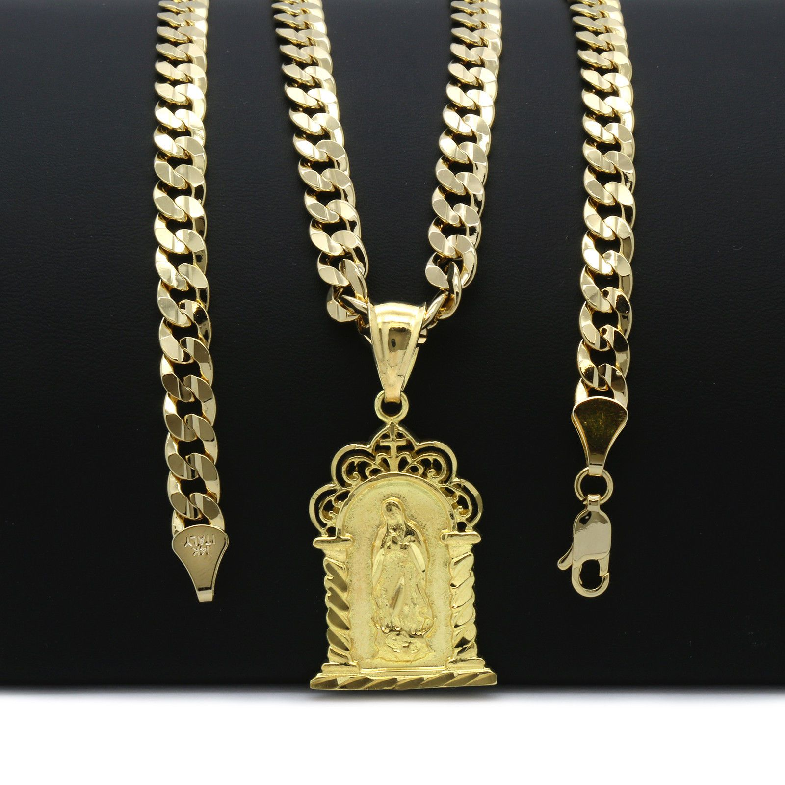 cuban openable hop chain pin hip plated guadalupe pendant gold chapel necklace mens