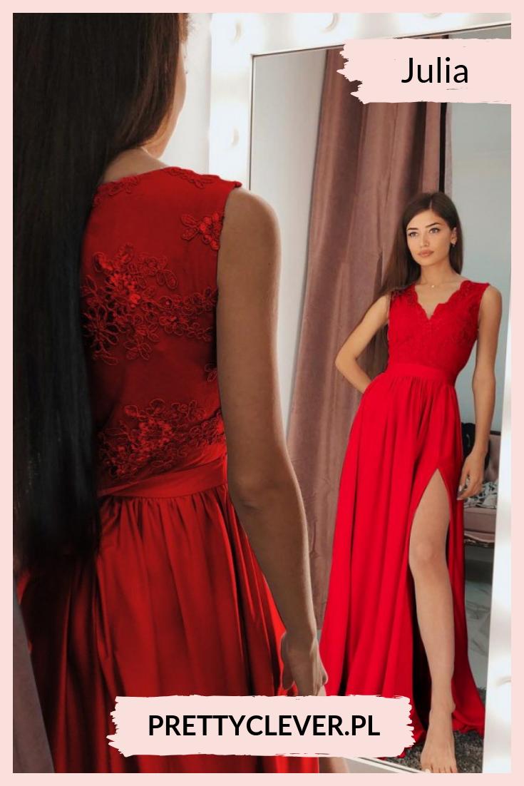 9a8ed2e1dc Zjawiskowa czerwona sukienka maxi z koronkową górą.  sukienkaczerwona   sukienkanawesele  sukienkanabal  sukniawieczorowa