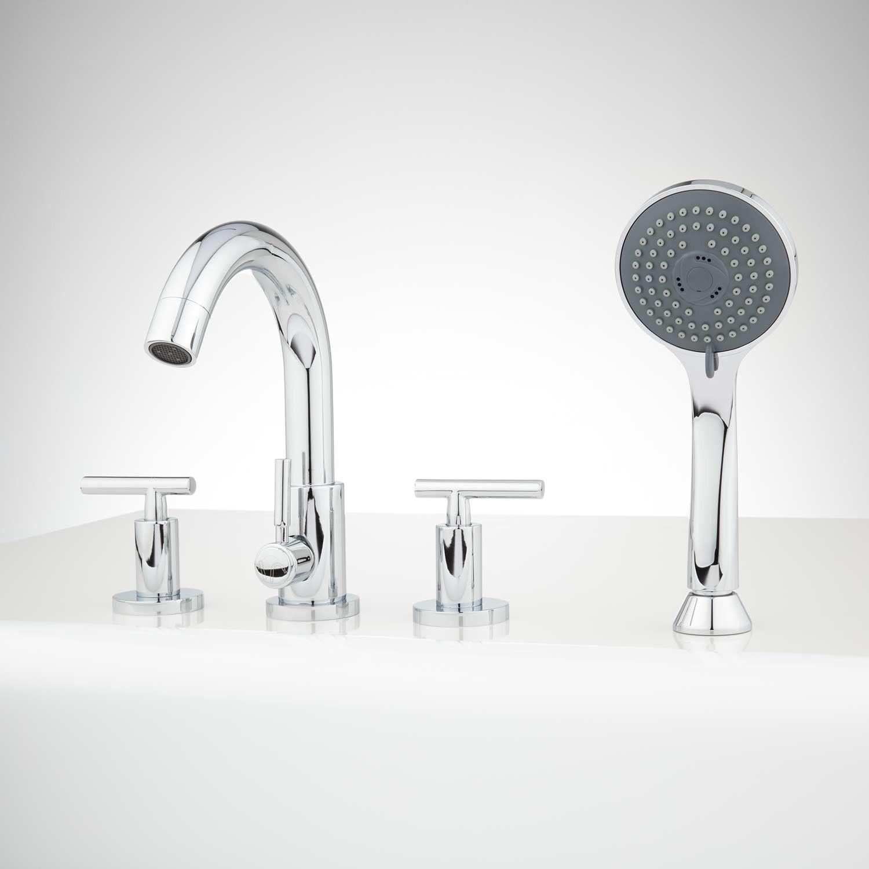 Bareva Roman Tub Faucet And Hand Shower Roman Tub Faucets Roman