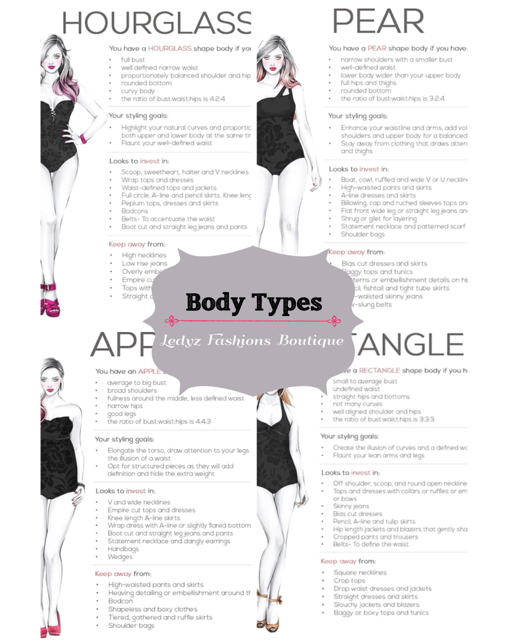 15fe52e2b3864 The perfect fashion guide to help you figure out which body shape you have.  Are you a pear body shape