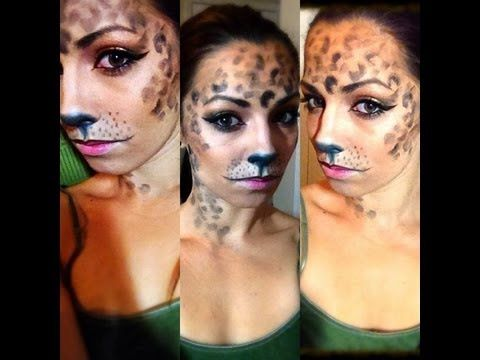 Easy Cheetah Halloween Makeup Tutorial On youtube by Molly ...