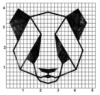 Dibujo Oso Panda Geometrico Matematico Cuadricula Para Dibujar Dibujos De Geometria Dibujos En Cuadricula