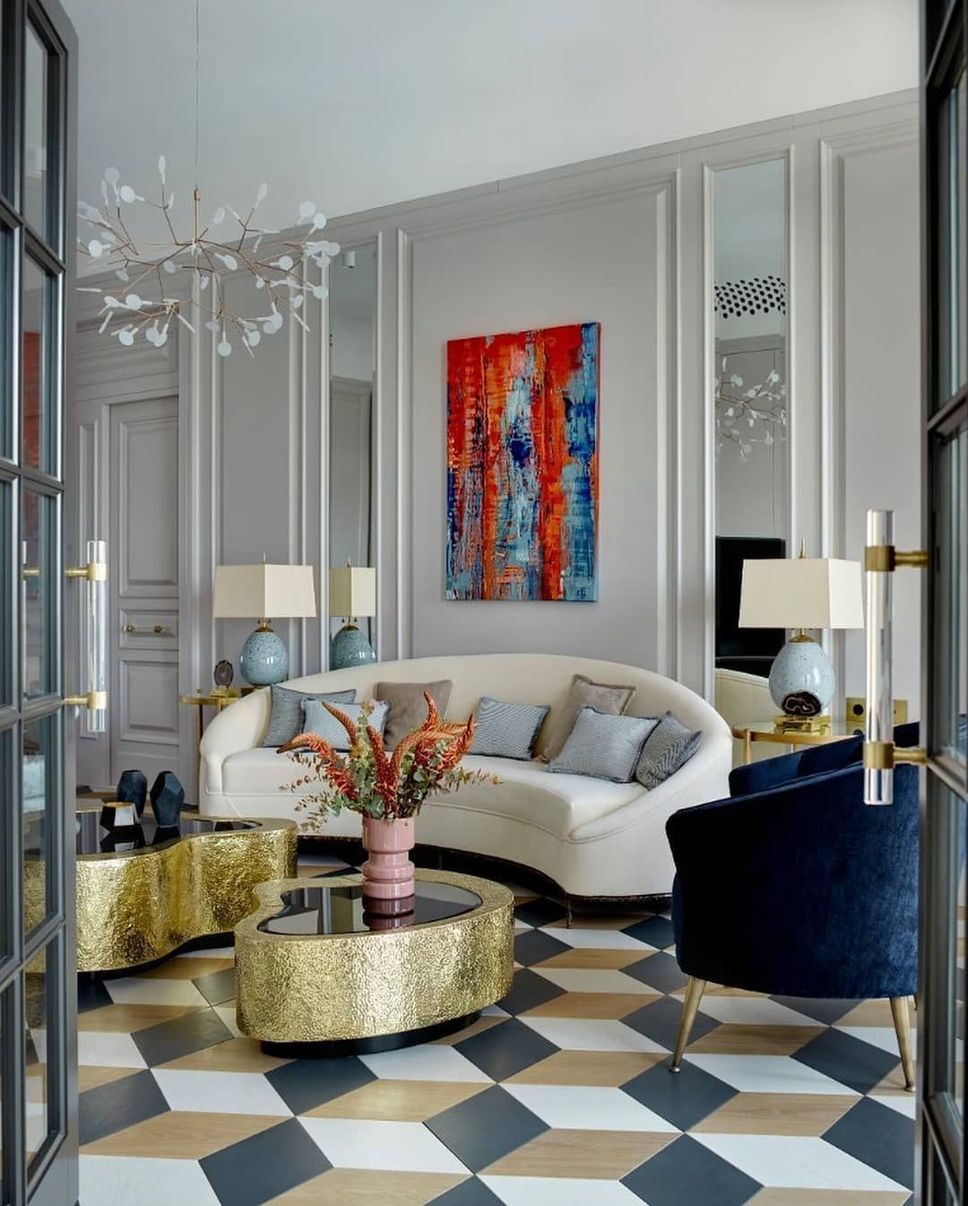 The Latest News From The Modern World Of Design Art Deco Living Room Luxury Living Room Design Luxury Living Room