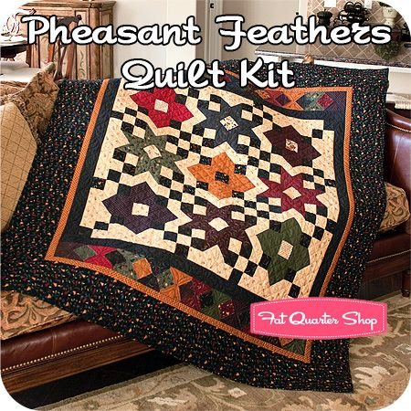 Pheasant Feathers Quilt Kit Featuring Pheasant Hill by Kansas Troubles Quilters