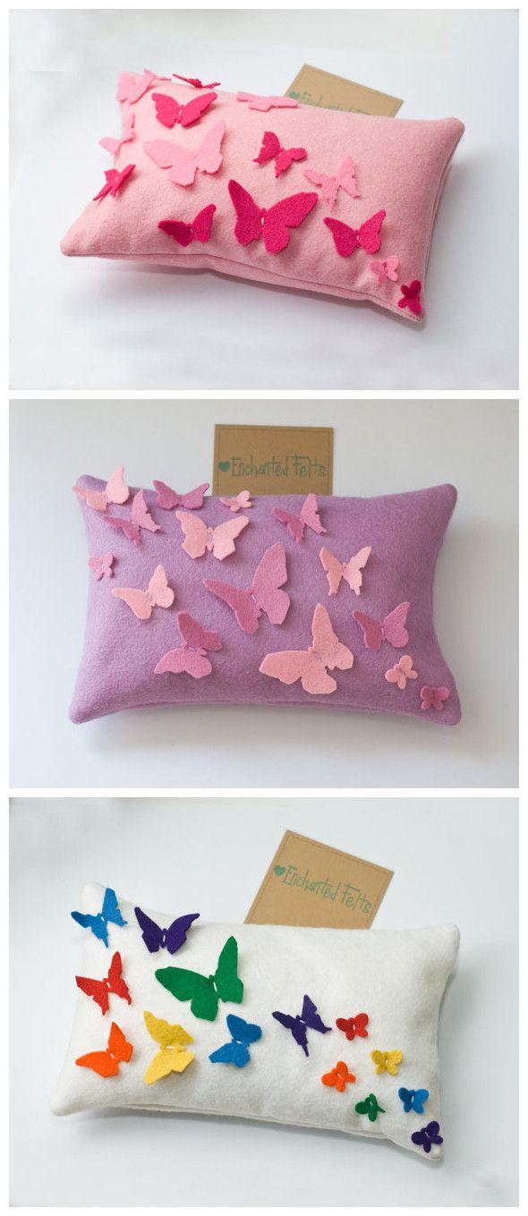 Mariposas butterfly cojines cushion diy home decor decoraciÓn