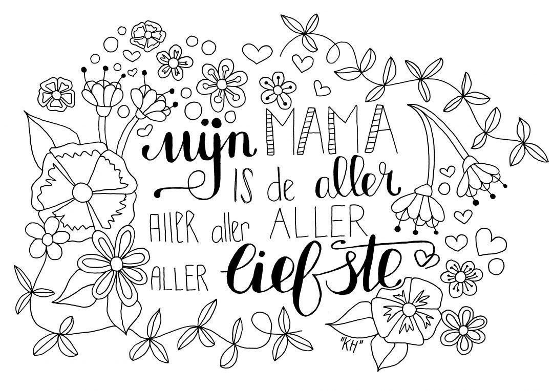 Kleurplaat Miks Voor Mama Moederdag Citaten Vaderdag Ouderdag