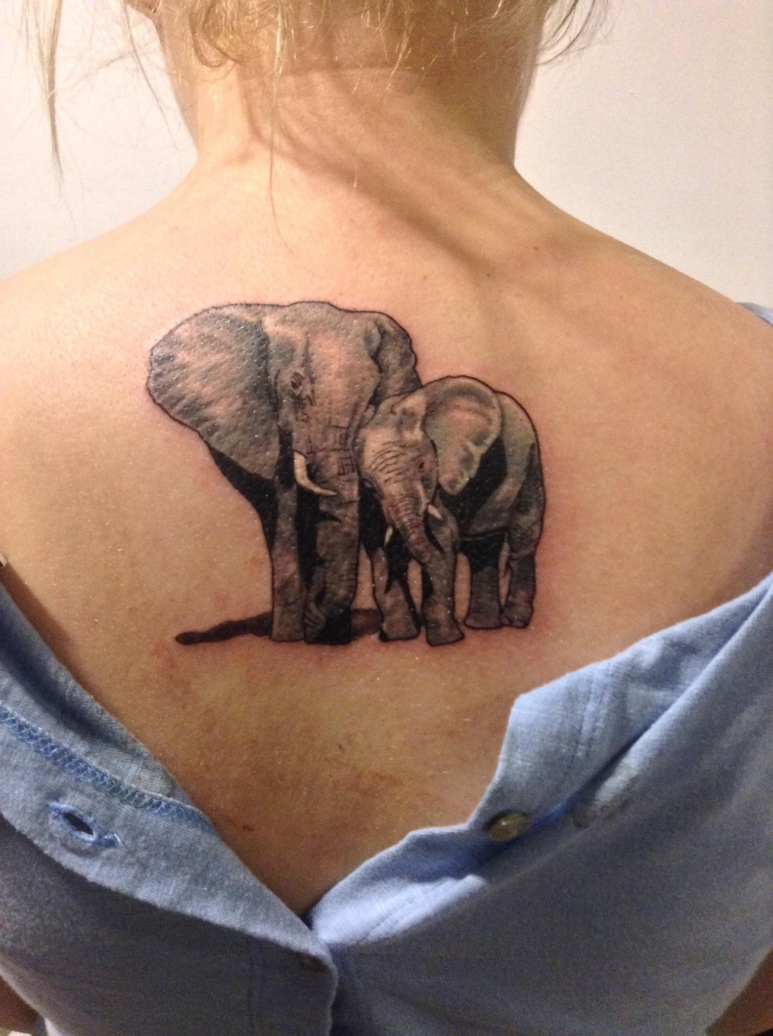 d10a3e5f8d2b0 Image result for african elephant mom and baby tattoo | Tattoos ...