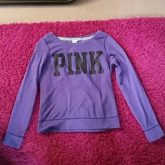 Victoria secret pink sweater Victoria secret pink sweater non strechy material Victoria's Secret Sweaters Crew & Scoop Necks