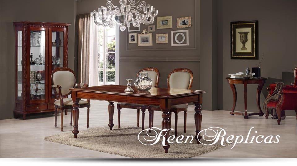 Keen replicas muebles artesanales en caoba maciza for Espejos artesanales