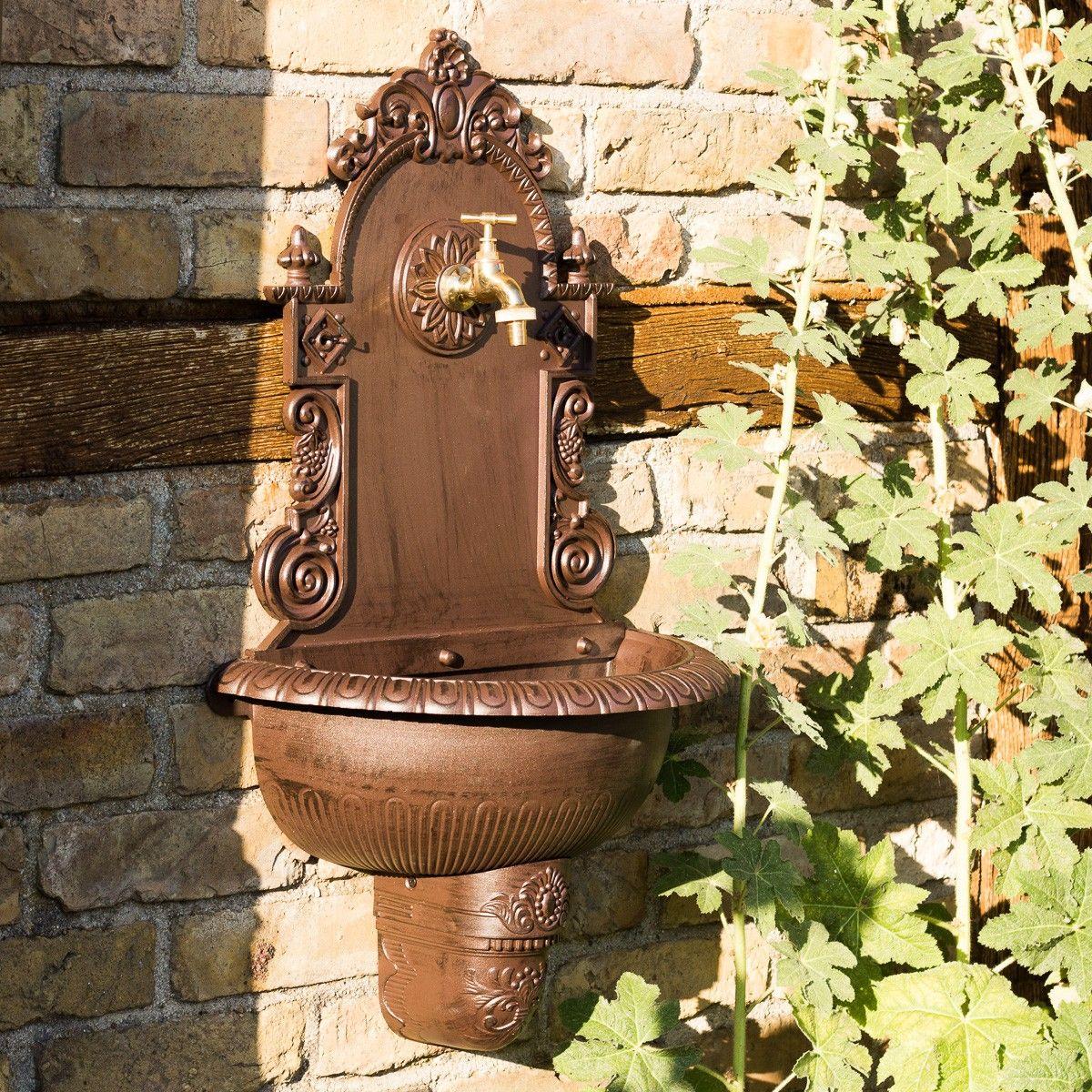 Gartenbrunnen Handwaschbecken Mit Schlauch Anschluss Waschbecken Garten H 75cm Waschbecken Garten Gartenbrunnen Garten