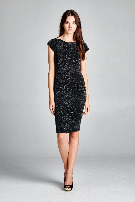0cf3e68949f3 Milla Dress in Black Shimmer | I'd wear that