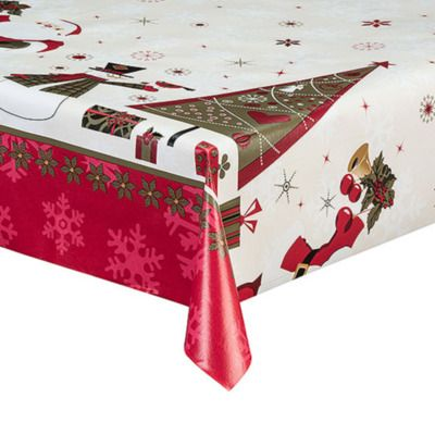 More Oilcloth Yule Table Linens Pinterest Christmas Table