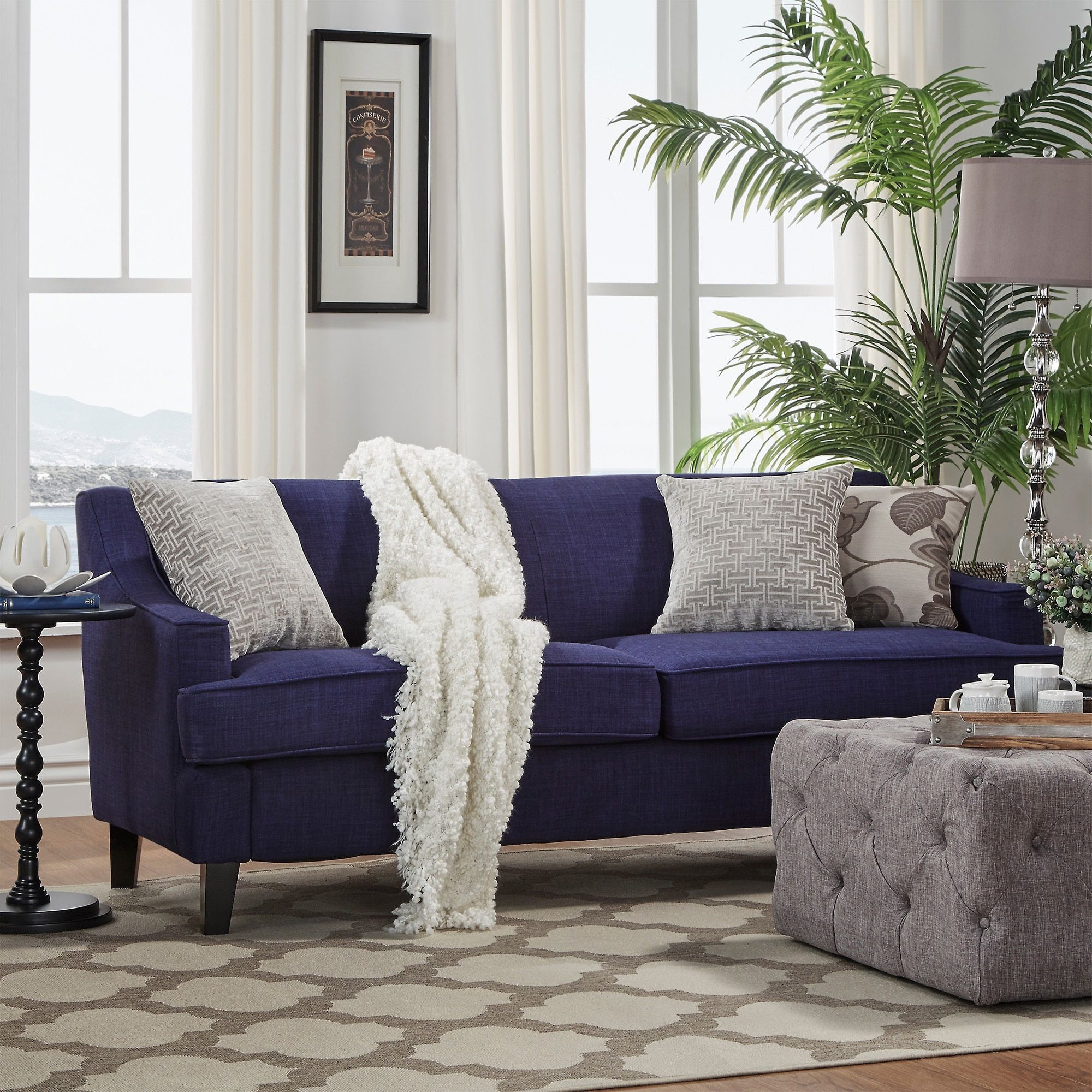Winslow Linen Fabric Modern Sofa by INSPIRE Q | Overstock.com Shopping -  The Best
