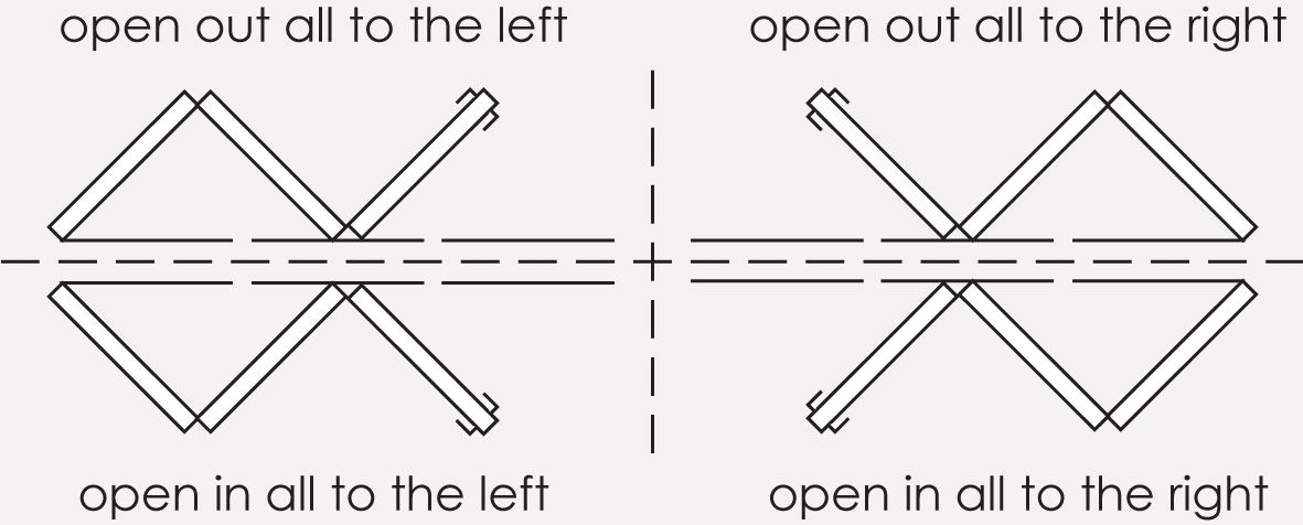 how to draw bifolding doors in plan view