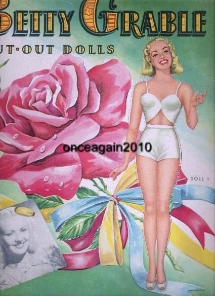 1946 Betty Grable paper doll / eBay