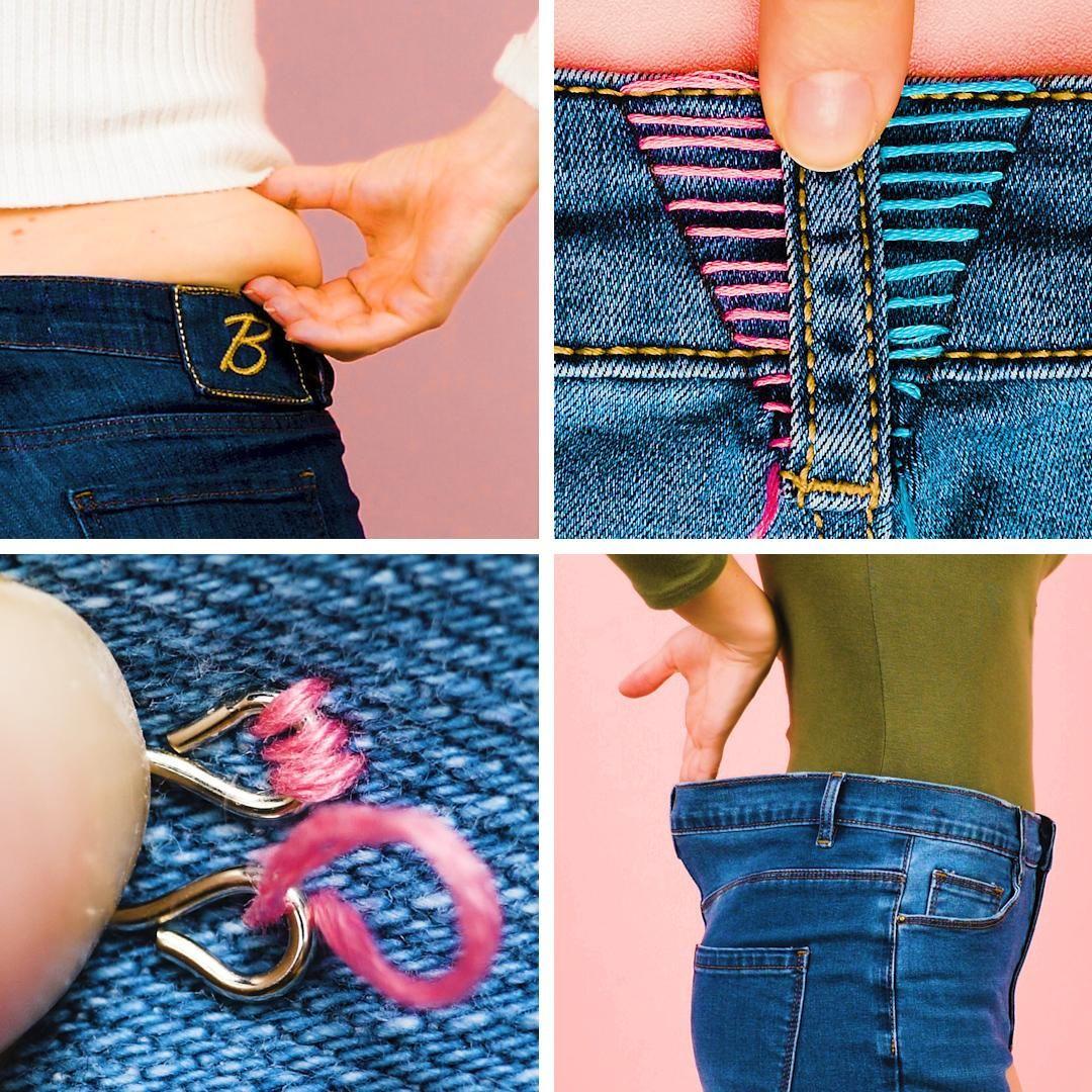 Photo of Dicas fáceis de costuras para mudar o tamanho de seus jeans