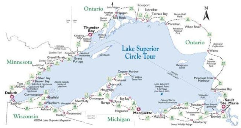 Why it\'s called Lake Superior | michigan | Lake superior, Lake ...